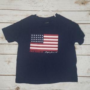 Ralph Lauren Polo American Flag Shirt Size 2T